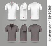 white black mens polo t shirt... | Shutterstock .eps vector #458480569