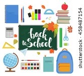 set of different items for... | Shutterstock .eps vector #458487154
