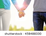 couple holding hands  close up | Shutterstock . vector #458488330