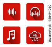 set of icons for music... | Shutterstock .eps vector #458494060