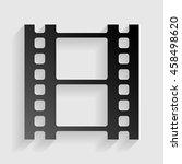reel of film sign. black paper... | Shutterstock .eps vector #458498620