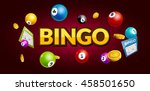 bingo lottery poster. balls... | Shutterstock .eps vector #458501650