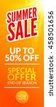 summer hot sale discount... | Shutterstock .eps vector #458501656