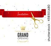 grand opening banner design... | Shutterstock .eps vector #458501680