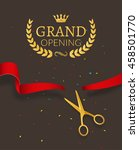 grand opening design template... | Shutterstock .eps vector #458501770