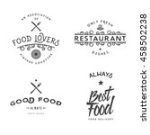 food related vintage logo... | Shutterstock .eps vector #458502238