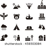 canada icons | Shutterstock .eps vector #458503084