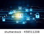 secure network concept | Shutterstock . vector #458511208