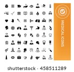 medical icon healthy care icon... | Shutterstock .eps vector #458511289