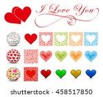 i love you   heart symbol set.... | Shutterstock .eps vector #458517850
