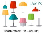lamps furniture set light... | Shutterstock .eps vector #458521684