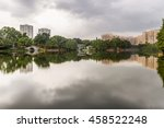 skyline and reflexions at liwan ... | Shutterstock . vector #458522248