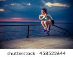 young strong woman in...   Shutterstock . vector #458522644