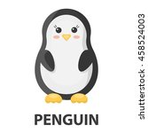 Stock vector penguin cartoon icon illustration for web and mobile 458524003