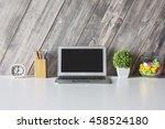 closeup of creative designer... | Shutterstock . vector #458524180
