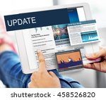 update trends report news flash ... | Shutterstock . vector #458526820