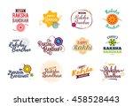 happy raksha bandhan. indian... | Shutterstock .eps vector #458528443