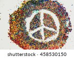 peace symbol on scraps of... | Shutterstock . vector #458530150