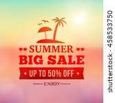 summer big sale advertisement... | Shutterstock .eps vector #458533750
