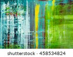 abstract painted canvas. oil... | Shutterstock . vector #458534824