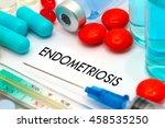 endometriosis. treatment and... | Shutterstock . vector #458535250