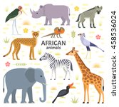 vector illustration of african... | Shutterstock .eps vector #458536024