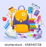 vector colorful illustration of ... | Shutterstock .eps vector #458540728