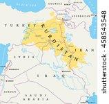 kurdistan  kurdish lands... | Shutterstock .eps vector #458543548