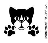 cat   logo  symbol  protect... | Shutterstock .eps vector #458544664