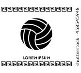 web icon. volleyball | Shutterstock .eps vector #458545948