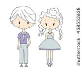 illustration of kids icons ... | Shutterstock .eps vector #458552638