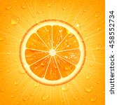 refreshing orange background... | Shutterstock .eps vector #458552734