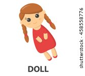 Doll Cartoon Icon. Illustratio...