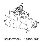 map of canada | Shutterstock .eps vector #458562034