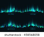 neon skyline american cities | Shutterstock .eps vector #458568058
