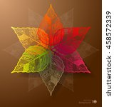 abstract leaves background.... | Shutterstock .eps vector #458572339