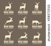 deer logos | Shutterstock .eps vector #458572510