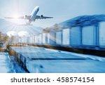 container truck   freight cargo ... | Shutterstock . vector #458574154