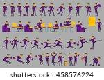 business solution. business... | Shutterstock . vector #458576224