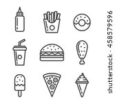 fast food icon set. | Shutterstock .eps vector #458579596