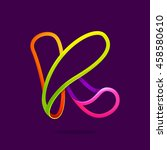 K Letter Logo Formed By Glowin...