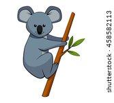cute koala   Shutterstock .eps vector #458582113