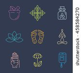 alternative medicine icons. iv... | Shutterstock .eps vector #458584270