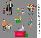 concept banner for shop. vector ... | Shutterstock .eps vector #458585410