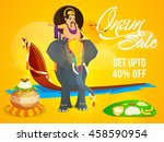 onam sale with upto 40  off ... | Shutterstock .eps vector #458590954