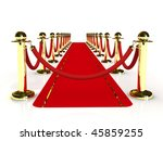 red carpet path on a brown... | Shutterstock . vector #45859255