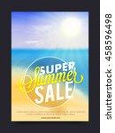 super summer sale  summer sale... | Shutterstock .eps vector #458596498