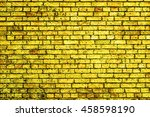 Golden Brick Wall Macro Textur...