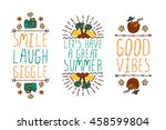 set of colorful summer hand... | Shutterstock .eps vector #458599804