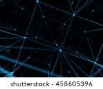 futuristic virtual technology... | Shutterstock . vector #458605396